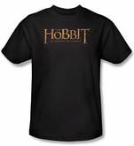 Hobbit Kids Shirt Movie Unexpected Journey Loyalty Logo Black Tee