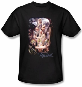 Hobbit Kids Shirt Movie Unexpected Journey Loyalty Rivendell Black Tee