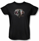 Hobbit Ladies Shirt Movie Unexpected Journey Loyalty Dwarves Black