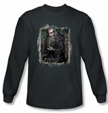 Hobbit Shirt Loyalty Gandalf Charcoal Long Sleeve Tee