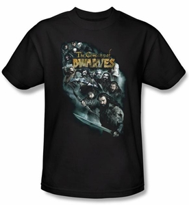 Hobbit Shirt Movie Unexpected Journey Loyalty Dwarves Black Adult Tee