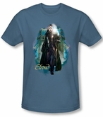 Hobbit Shirt Movie Unexpected Journey Loyalty Elrond Slate Slim Fit
