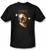 Hobbit Shirt Movie Unexpected Journey Loyalty Hole Black Adult Tee