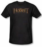 Hobbit Shirt Movie Unexpected Journey Loyalty Logo Black Slim Fit Tee