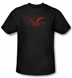 Hobbit Shirt Movie Unexpected Journey Loyalty Smaug Black Adult Tee