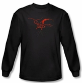 Hobbit Shirt Movie Unexpected Journey Loyalty Smaug Black Long Sleeve