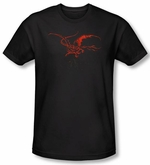 Hobbit Shirt Movie Unexpected Journey Loyalty Smaug Black Slim Fit Tee