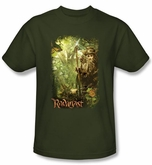 Hobbit Shirt Movie Unexpected Journey Loyalty Woods Green Adult Tee