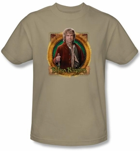 Hobbit Shirt Unexpected Journey Loyalty Mr Baggins Sand Adult Tee