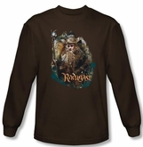 Hobbit Shirt Unexpected Journey Loyalty Radagast Brown Long Sleeve