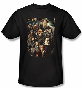 Hobbit Shirt Unexpected Journey Loyalty Somber Company Black Adult Tee