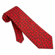 Holy Mini Red Silk Tie Necktie � Mens Holiday Neck Tie