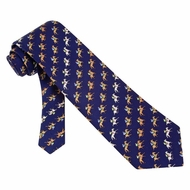 Horse Blue Silk Tie Necktie Men's Animal Print Win Place Show Neck Tie