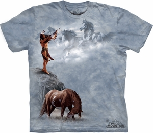 Horse Shirt Tie Dye T-shirt Indian The Offering Adult Tee