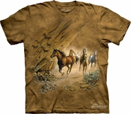 Horses Shirt Tie Dye T-shirt Sacred Passage Adult Tee
