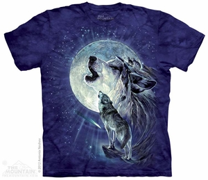 Howl at the Moon Shirt Tie Dye Adult T-Shirt Tee