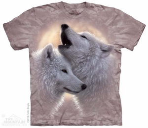 Howling Wolves Shirt Tie Dye Adult T-Shirt Tee