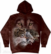 Hungry Wolf Pack Hoodie Tie Dye Adult Hooded Sweat Shirt Hoody