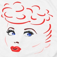 I Love Lucy Lines Face Shirts
