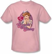 I Love Lucy Shirt - Sweet and Sassy Adult Pink Tee