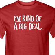 I'm Kind Of A Big Deal White Print Mens Shirts