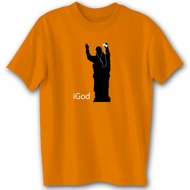 IGOD Comedy Humor Funny Saying Novelty Orange Black T-shirt Tee Shirt