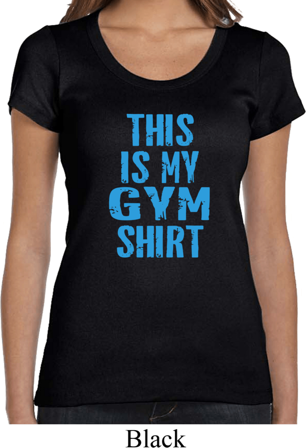 Ladies This Is My Gym Shirt Scoop Neck Shirt