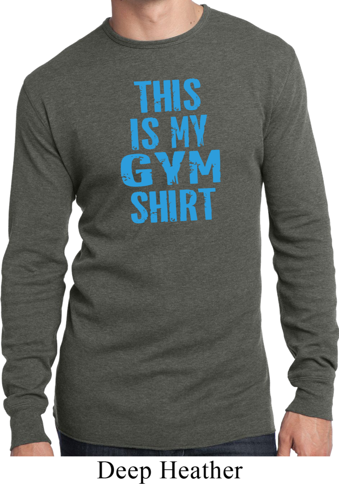 Mens This Is My Gym Shirt Long Sleeve Thermal Shirt