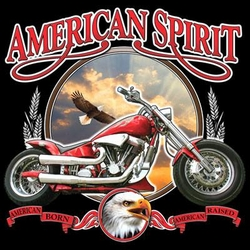 American Spirit Indian Biker T-shirt