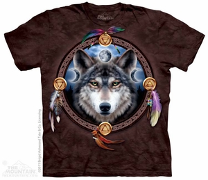 Indian Wolf Guide T-shirt Tie Dye Adult Tee