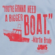 Jaws Bigger Boat Shirts