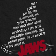 Jaws Dorsal Text Shirts