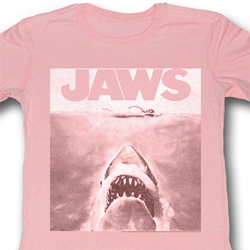 Jaws Juniors Shirt Movie Poster Pink Tee T-Shirt
