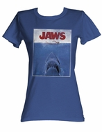 Jaws Juniors T-shirt Movie Poster Classic Royal Tee Shirt