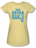 Jaws Juniors T-shirt Movie Swallow You Whole Banana Tee Shirt