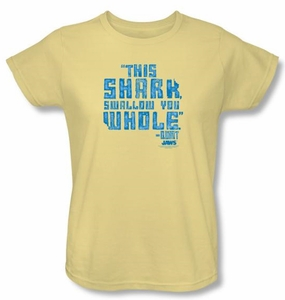 Jaws Ladies T-shirt Movie Swallow You Whole Banana Tee Shirt