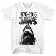 Jaws Shirt 40th Anniversay White T-Shirt