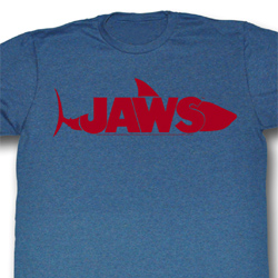 Jaws Shirt A Really Big Adult Heather Blue Tee T-Shirt