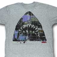 Jaws Shirt Amity Jaws Adult Heather Grey Tee T-Shirt