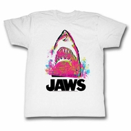 Jaws Shirt Color Splash White T-Shirt