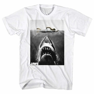 Jaws Shirt Colored Swimmer White T-Shirt