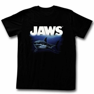 Jaws Shirt Deep Blue Black T-Shirt
