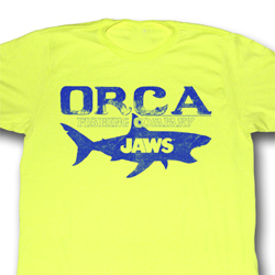 Jaws Shirt Fishing Company Adult Yellow Tee T-Shirt