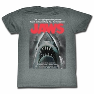 Jaws Shirt From Book To Movie Charcoal T-Shirt