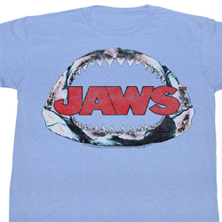 Jaws Shirt Jawbone Adult Light Blue Tee T-Shirt
