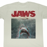 Jaws Shirt Jaws 3DAdult White Tee T-Shirt