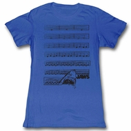 Jaws Shirt Juniors Sheet Music Royal T-Shirt