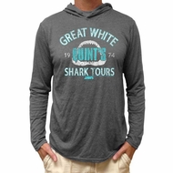 Jaws Shirt Lightweight Hoodie Shark Tours Heather Grey Hoody