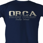Jaws Shirt Orca Fish Adult Navy Tee T-Shirt