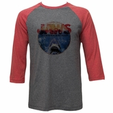 Jaws Shirt Raglan Logo Grey/Red Shirt